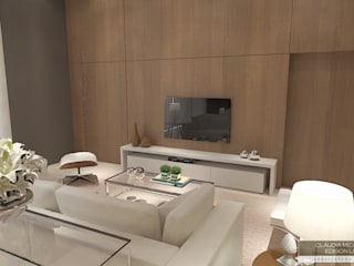 Horta e Vello Arquitetura e Interiores Modern living room Wood Wood effect