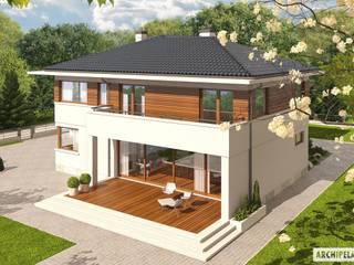 PROJEKT DOMU NATI G2 Nowoczesne domy od Pracownia Projektowa ARCHIPELAG Nowoczesny