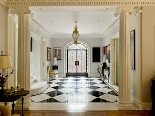 Allan Malouf Arquitetura e Interiores Classic style corridor, hallway and stairs