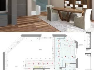 PROGETTO DI INTERIOR DESIGN - APPARTAMENTO PRIVATO – CUNEO Soggiorno moderno di Studio di Architettura Giacomo Alessandria Moderno