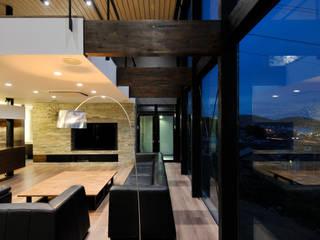 株式会社 Atelier-D Livings de estilo moderno Piedra Marrón