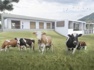 Fachada Posterior: Casas de estilo  por Ar4 Arquitectos