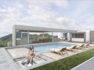 Minimalistyczny basen od Ar4 Arquitectos Minimalistyczny
