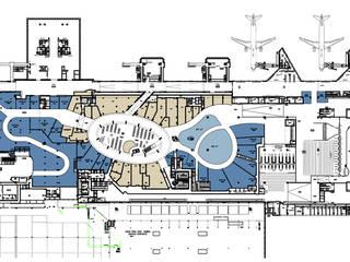 Reabilitação geral do Aeroporto de Lisboa (em obra) Aeropuertos de estilo moderno de MIGUEL VISEU COELHO ARQUITECTOS ASSOCIADOS LDA Moderno