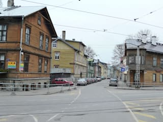Skandinavisch Einrichten in einem alten Holzhaus in Tallinn Baltic Design Shop Scandinavian style houses Wood
