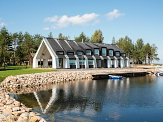 Hafengebäude an der Ostsee Maisons minimalistes par Baltic Design Shop Minimaliste