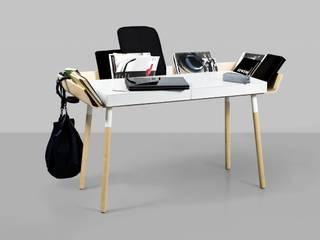 Praktische Schreibtische im ausgefallenem Design de Baltic Design Shop Escandinavo Madera Acabado en madera