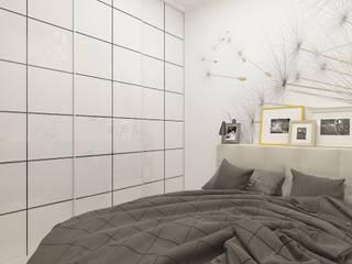 Как превратить однокомнатную квартиру в двухкомнатную: Спальни в . Автор – Дизайн студия Марины Геба