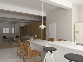 ESTUDIO BAO ARQUITECTURA Scandinavian style dining room