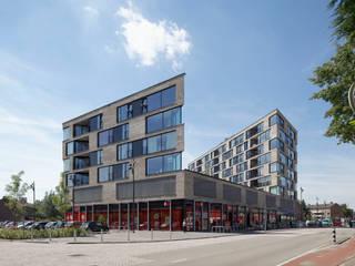 appartementen en commerciële voorzieningen Moderne huizen van JMW architecten Modern