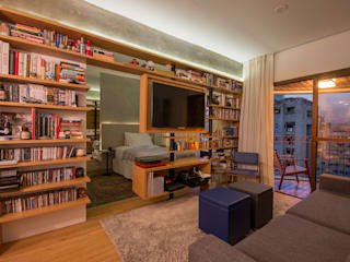 Apartamento Leopoldo: Salas de estar  por Sacada