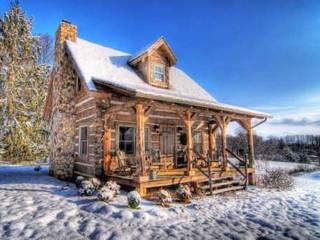 Casa LAGO:  de estilo  de Casasdemaderanatural