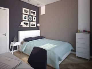 интерьер квартиры в ЖК Ньютон: Спальни в . Автор – Студия дизайна интерьера Designer-PRO