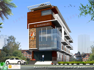 Ramesh commercial space at Chikmangluru Asian style houses by SAHHA architecture & interiors Asian