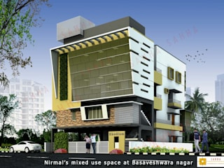 Rodium office at Rajajinagar Asian style houses by SAHHA architecture & interiors Asian