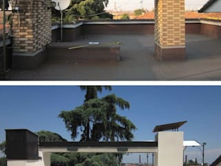 Casa M: Terrazza in stile  di baustudio