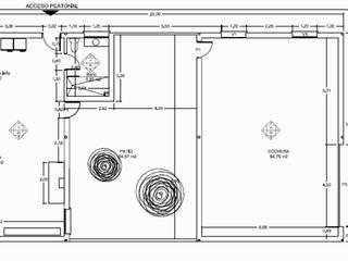 Edificio cochera: Comedores de estilo  de Estudio de arquitectura Blas Blanco Marín
