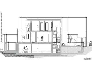 Vivienda en Churriana, Granada: Casas de estilo  de Estudio de arquitectura Blas Blanco Marín