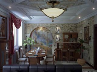 Зал средиземноморский стиль Гостиная в классическом стиле от Architoria 3D Классический