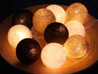 10-er Cotton Balls Lichterkette: Kaffeepause:   von Stöberland