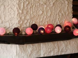 20-er Cotton Balls Lichterkette: Beerenblüte:   von Stöberland