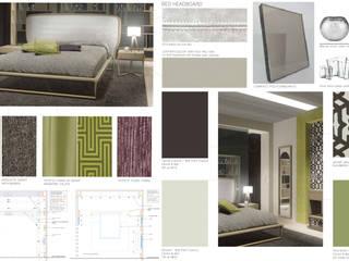 INTERIOR DESIGN AND FURNITURE DESIGN PROJECT: MODERN WOODEN BEDROOM :  in stile  di Studio di Architettura Giacomo Alessandria