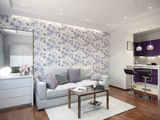 Студия интерьера 'SENSE' Living room Purple/Violet