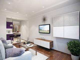 Студия интерьера 'SENSE' Eclectic style living room Brown
