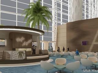 ASHGABAT AİRPORT CAFE'S İDEAS Modern Havalimanları HİSARİ DESIGN STUDIO Modern