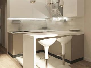 Деликатный латте_кухня в современном стиле: Кухни в . Автор – CO:interior