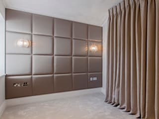 Upholstered panels for the home Mille Couleurs London Kamar Tidur Modern Brown