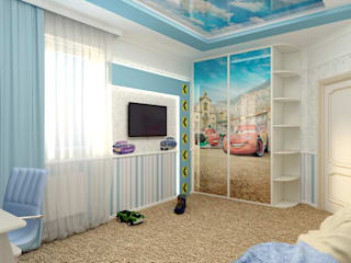 """Детская """"Формула"""": Детские комнаты в . Автор – Цунёв_Дизайн. Студия интерьерных решений."""