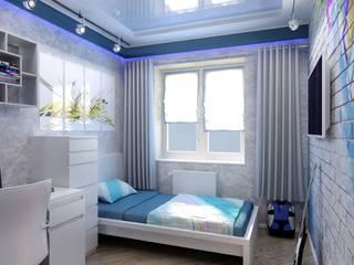 Современная детская : Детские комнаты в . Автор – Цунёв_Дизайн. Студия интерьерных решений.