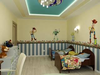 """Дизайн детской в стиле """"Игрушки"""": Детские комнаты в . Автор – Цунёв_Дизайн. Студия интерьерных решений."""