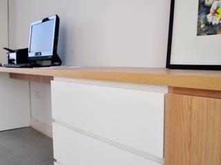 RÜM Proyectos y Diseño ห้องอ่านหนังสือและห้องทำงานตู้เก็บของและชั้นวาง