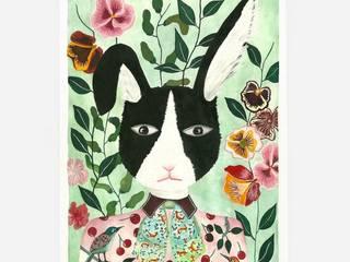 Illustration sonia cavallini Chambre d'enfantsAccessoires & décorations Papier Vert