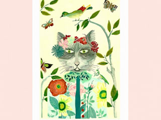Illustration sonia cavallini Chambre d'enfantsAccessoires & décorations Papier Jaune