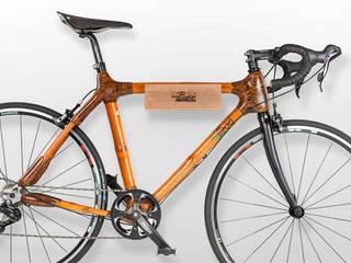 my Boo Fahrradwandhalterung aus Bambus my Boo Bambusfahrräder WohnzimmerAufbewahrung Bambus Braun