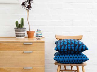 Wedge & Folk Cushions:   by Seven Gauge Studios