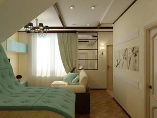 Дизайн Таунхауса в Краснодаре. Гостиная в стиле кантри от Цунёв_Дизайн. Студия интерьерных решений. Кантри