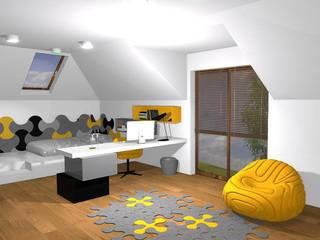 Sala multimediale moderna di FLUFFO fabryka miękkich ścian Moderno