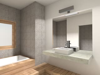 REMODELACIÓN ANNARATONE ELIZONDO Modern Bathroom by ben arquitectos Modern