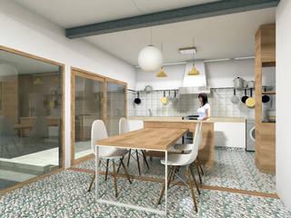 REMODELACIÓN ANNARATONE ELIZONDO Modern Dining Room by ben arquitectos Modern