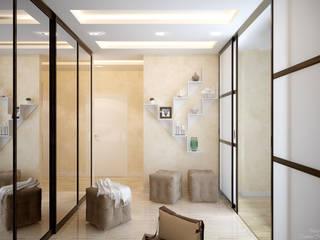 Moderner Flur, Diele & Treppenhaus von Студия интерьерного дизайна happy.design Modern