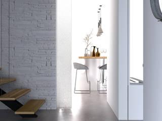 Jeux de volumes: Couloir et hall d'entrée de style  par Bargann Architecture