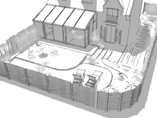Allée des mimosas /: Jardin de style  par Bargann Architecture