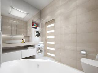 Tatiana Zaitseva Design Studio Baños de estilo minimalista Gris
