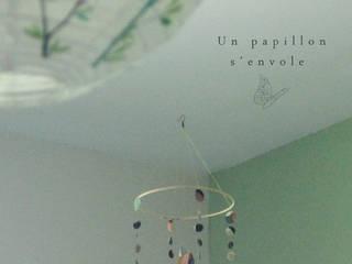 Azuré en vol - Mobile papillon par Un papillon s'envole Éclectique