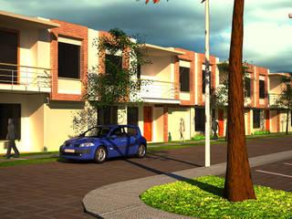 Urbanización San Miguel: Casas de estilo  por Santiago Zuluaga Arroyave, Moderno