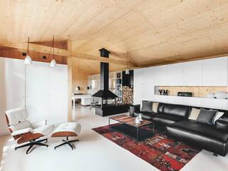 Livings de estilo  por dom arquitectura